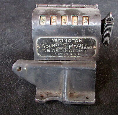 1908 Vintage Antique Redington Counting Machine Printing Press Paper Counter