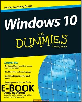 PDF Windows 10 for Dummies (ExLib) by Andy Rathbone Not Physical Book