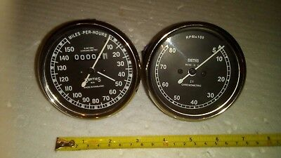 Smiths Chronometric Motorcycle Speedometer and Rev Counter / Tachometer