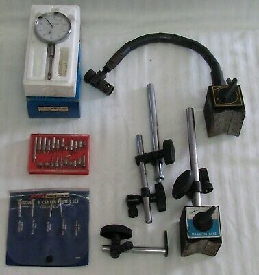 Machinist Dial Indicator  & Holder & Wiggler & Others Machinist Tools Lot