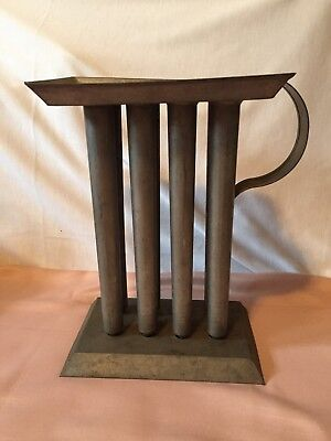 Primitive Vintage 8 Taper Candle Mold With Handle