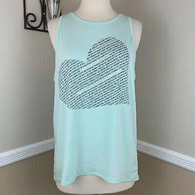 f291ccac6ec2c Calia by Carrie Underwood Flow Loop Back Graphic Heart Print Tank Top L  Large