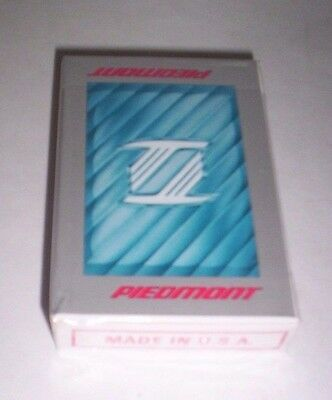 Vintage Piedmont Airlines Souvenir Playing Cards Bridge Size Sealed in Box New