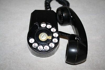 Vintage Black Automatic Electric Dial Spacesaver Telephone-Nr