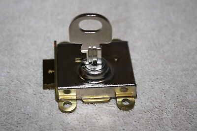 Vintage Automatic Electric Model 29S Lock W. Key For 3 Slot Payphone-Nr