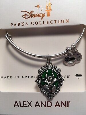 Disney Alex & and Ani Maleficent Mistress Of All Evil Silver Bracelet