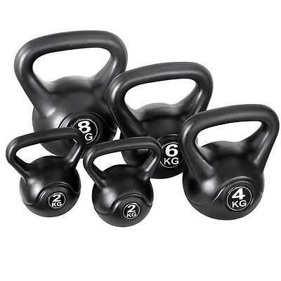 NEW 5x Kettlebells Home Gym Body Workout Fitness Strength Training Exercise Kit