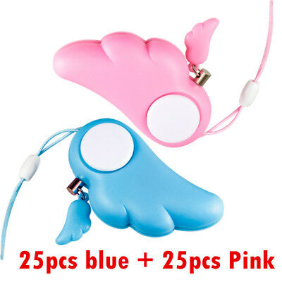 50pcs Women Security Protect  Personal Attack Anti Rape Keychain Girl 90dB Alarm