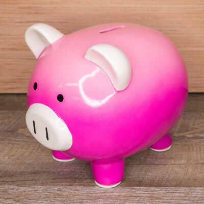 Hot Pink Fuchsia Target Ceramic Piggy Bank Collectible Traditional Pig NEW NWT