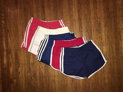 LOT 5 Pair 80's Youth Gym/Team/Workout Shorts Size: SM