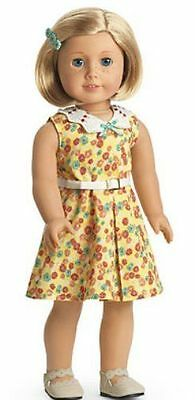 American Girl KIT'S FLORAL PRINT DRESS with Shoes & Barrette New In Box