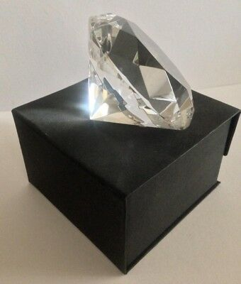 Large Rosenthal Crystal Diamond Shape - Brilliant Cut - Paperweight w/ Orig. Box