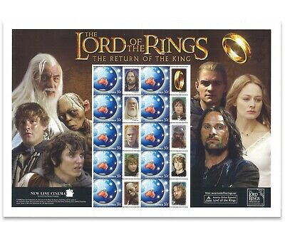 Australia 2003 The Lord of The Rings Personalised Souvenir Stamp Sheet Mint MUH
