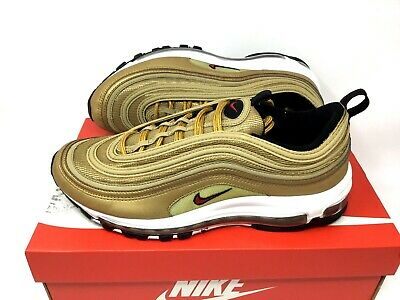 c7701a1574 NIKE AIR MAX 97 OG QS MENS SIZE 9.5 METALLIC GOLD RED B Grade 884421 700