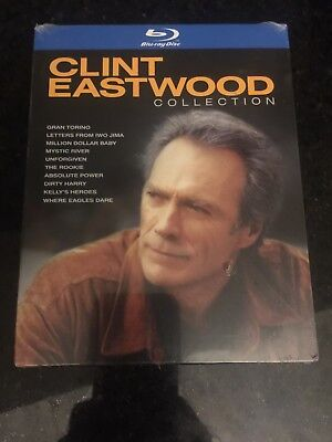 Clint Eastwood Collection (Blu-ray, 2010, 10-Disc Set, Collector's Edition) NEW