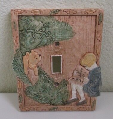 Disney Classic Winnie The Pooh Resin Light Switch Plate Cover