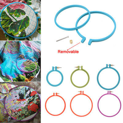 Plastic Cross Stitch Machine Embroidery Hoop Ring Home Sewing Tool Easy Use ##