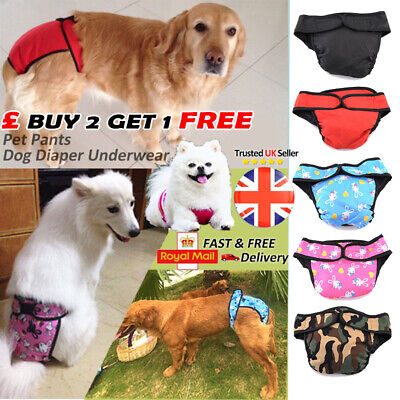 Dog Sanitary Pet Physiological Pants Shorts Underwear Nappy Diaper for Dog S-XL*