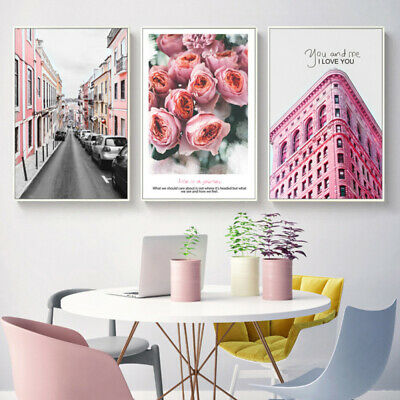 Unframed Art Flower Modern Picture Wall Oil Painting Canvas Print Home Decor WY