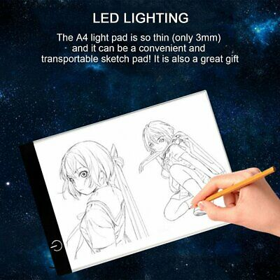 K02 A4 Paper Size Copying Board Ultra Thin LED Luminous Portable Painting Pad cc