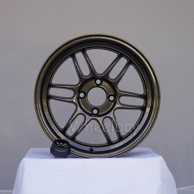 4 356 Lightweight Wheels Tfs301 15X7 4X100 35 Gunmetal Civic 12.5 Lbs Last Set
