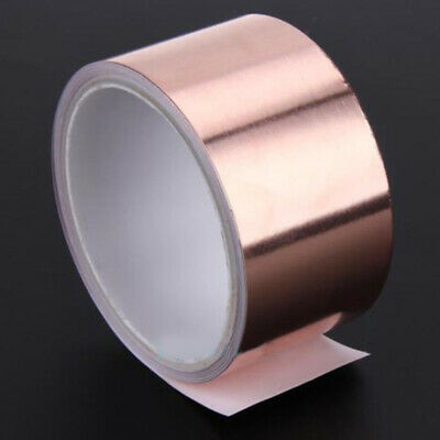3m x 50mm EMI Copper Foil Shielding Tape Conductive Self Adhesive Barrier New