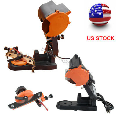 80W 4800RPM Electric Chain Saw Sharpener Bench Grinder Chainsaw Mount USA