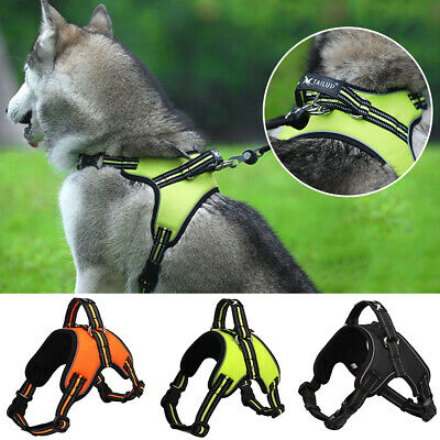 802fba66830 Large Dog Harness Collar Lead Adjustable Padded Non Pull Vest Puppy Size S- XL