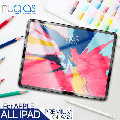 Nuglas Tempered Glass Screen Protector Apple iPad 3 4 Air Mini Pro 11 10.5 12.9
