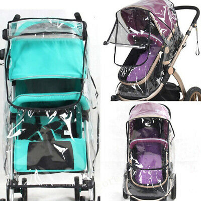 Universal Baby Stroller Waterproof Rain Cover Wind Dust Shield Carrier Rai SRU