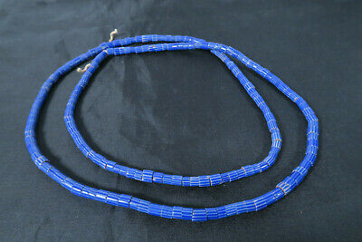 Alte blaue Chevron Glasperlen 6 Lagen Murano AI03 Old African Trade beads