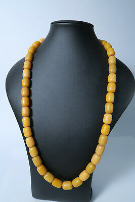 Alte Perlen Bernsteinimitate AI04 African Amber Imitation Old resin trade beads