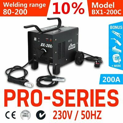 Mma 200A Ac Arc Stick Welder Portable Welding Machine + Electrodes 10.7Kva Bn