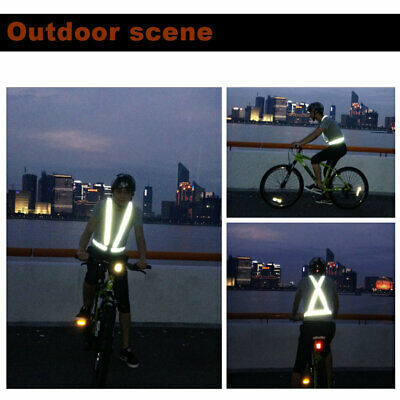 High Elastic Traffic Night Security Running Cycling Safety Reflective Vest☼~♌
