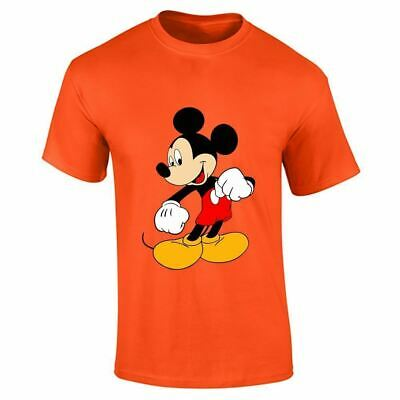 Mickey Mouse Mens Boys Top Casual Wear Fitness T Shirt Sports Cotton Tee Gym