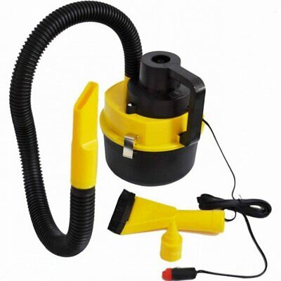 Portable Handheld Car Vacuum Cleaner 12V Vehicle Auto Dust Wet & Dry Yellow☼~♌