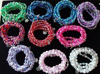 Wholesale Jewellery Job Lot 80 Beaded Charm Bracelets.gifts,party Bags,retail