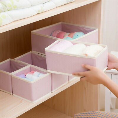 Useful Storage Box Non-woven Partition Box With Lid Underwear Socks Set Box 6A