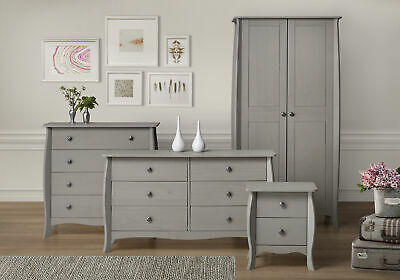 Provence Comtemporary French Design Bedroom Range - Bedside, Drawers, Wardrobe