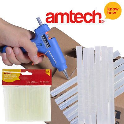 50 Glue Gun Stick 7x100mm Hot Melt Hobby Adhesive Decorating Craft Amtech S1868