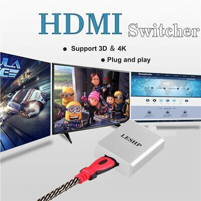 LESHP USB 3.1 Type C to HDMI Male to Female Adapter with Aluminum Case 4K HDTV❃❃