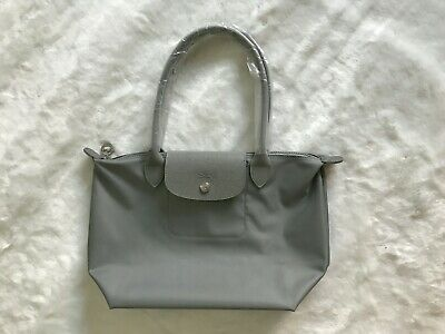 100% AUTH LONGCHAMP Le Pliage Neo Large Tote Bag Pebble Galet ... 3eb4cfdc6bee4