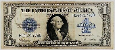 Series 1923 LARGE Silver Certificate 1 One Dollar Bill