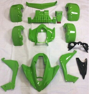 Spy 250F1-350F1-A Body Kit 15pc, Spy Racing, Road Legal Quad Bikes, Green.