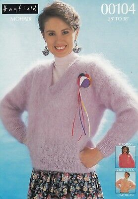 f0bcc24af78ab HAYFIELD MOHAIR LADIES GIRLS Sweaters   Cardigan Knitting Pattern ...