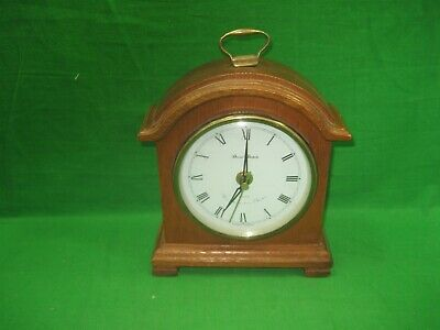 Vintage Desk Table Top Daniel Dakota Westminster Chime Quartz Wood Clock MVMT