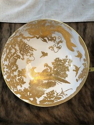 ROYAL CROWN DERBY SERVING BOWL GOLD AVES ENGLAND CHINA list @ $99.99 check all