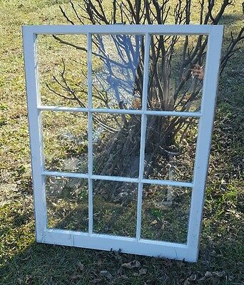 Vintage Sash Antique Wood Window Picture Frame Pinterest 9 Pane Etsy 40X32