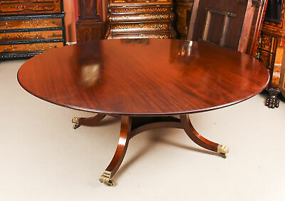 "Vintage 6 ft 6""  Round Mahogany Table by William Tillman 20th Century"
