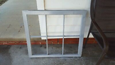 Architectural Salvage - RECLAIMED ANTIQUE WINDOW PANE FRAME 32X27 GRAY 6 PANE